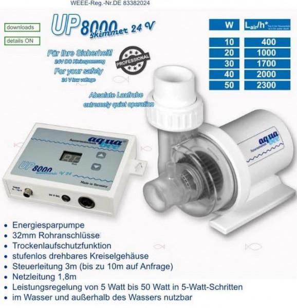 Universal BLDC Kreiselpumpe UP 8000 skimmer 24V