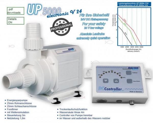 Universal BLDC Kreiselpumpe UP 5000 electronic V24